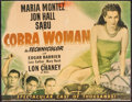 "Movie Posters:Adventure, Cobra Woman (Universal, 1944). Trimmed Half Sheet (20"" X 26"").Adventure.. ..."