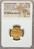 Ancients:Byzantine, Ancients: Constantine V Copronymus (AD 741-775), with Leo IV (AD751-775). AV solidus (4.34 gm). ...