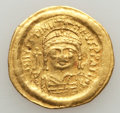 Ancients:Byzantine, Ancients: Justinian I the Great (AD 527-565). AV solidus (4.26gm)....
