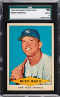 Baseball Cards:Singles (1950-1959), 1954 Red Heart Mickey Mantle SGC 96 Mint 9 - None Higher....