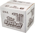 Baseball Cards:Unopened Packs/Display Boxes, 1993 Topps Finest Factory Sealed Case with 12 Boxes. ...