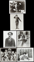 """Movie Posters:Comedy, Charlie Chaplin Lot (Various, 1970s). Restrike Photos (6) (8"""" X 10""""). Comedy.. ... (Total: 6 Items)"""