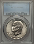 Eisenhower Dollars, 1971-D $1 MS66+ PCGS. PCGS Population (1030/23 and 22/0+). NGC Census: (624/44 and 1/0+). Mintage: 68,587,424. Numismedia W...