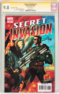 Modern Age (1980-Present):War, Secret Invasion #3 Dynamic Forces Edition - Signature Series (Marvel, 2008) CGC NM/MT 9.8 White pages....