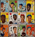 Baseball Cards:Lots, 1954 Topps Baseball Collection (60) With Stars & HoFers....
