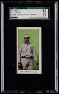"Baseball Cards:Singles (Pre-1930), 1910 E98 ""Set of 30"" Cy Young (Green) ""Black Swamp Find"" SGC 45 VG+3.5. ..."