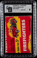 "Non-Sport Cards:Unopened Packs/Display Boxes, 1954 Bowman ""Firefighters"" 5-Cent Wax Pack GAI NM-MT 8. ..."