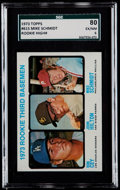 Baseball Cards:Singles (1970-Now), 1973 Topps Mike Schmidt - Rookie 3rd Basemen #615 SGC 80 EX/NM 6....