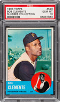 Baseball Cards:Singles (1960-1969), 1963 Topps Roberto Clemente #540 PSA Gem Mint 10 - Pop Two....