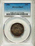 Proof Seated Quarters, 1881 25C PR65 PCGS. Briggs 2-B....