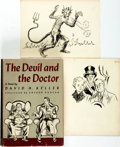 Books:Horror & Supernatural, David H[enry] Keller. INSCRIBED. The Devil and the Doctor.New York: Simon and Schuster, 1940. ... (Total: 3 Items)