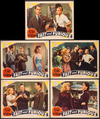 "Fast and Furious (MGM, 1939). Lobby Cards (5) (11"" X 14""). Comedy. ... (Total: 5 Items)"