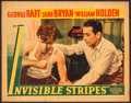 "Movie Posters:Crime, Invisible Stripes (Warner Brothers, 1939). Linen Finish Lobby Card(11"" X 14""). Crime.. ..."