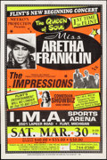 "Movie Posters:Rock and Roll, Aretha Franklin at I.M.A Sports Arena (Meeko's Productions, 1995).Concert Poster (22"" X 33""). Rock and Roll.. ..."