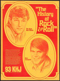 """Movie Posters:Rock and Roll, The History of Rock and Roll - The Real Don Steele and GlenCampbell (KHJ, 1969). Radio Show Poster (18.5"""" X 28""""). Rock and ..."""