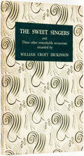 Books:Horror & Supernatural, William Croft Dickinson. The Sweet Singers and Three OtherRemarkable Occurrents. Edinburgh, London: Oliver and ...