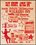 "Movie Posters:Rock and Roll, Mash Potato Celebration (Walkers Inn, Early 1960s). Concert Poster(22""X 28""). Rock and Roll.. ..."