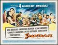 "Movie Posters:Action, Spartacus (Universal International, 1961). Half Sheet (22"" X 28"") Academy Awards Style. Action.. ..."
