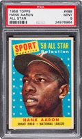 Baseball Cards:Singles (1950-1959), 1958 Topps Hank Aaron All Star #488 PSA Mint 9 - None Higher....