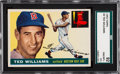Baseball Cards:Singles (1950-1959), 1955 Topps Ted Williams #2 SGC 92 NM/MT+ 8.5 - Equals Highest SGCGrade. ...