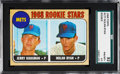Baseball Cards:Singles (1960-1969), 1968 Topps Nolan Ryan - Mets Rookie Stars #177 SGC 92 NM/MT+8.5....