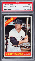Baseball Cards:Singles (1960-1969), 1966 Topps Mickey Mantle #50 PSA NM-MT+ 8.5....
