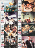 """Movie Posters:James Bond, Diamonds are Forever (United Artists, 1971). Spanish Lobby Card Set of 12 (9.25"""" X 13.5"""") & British Color Photo (8"""" X 10""""). ... (Total: 13 Items)"""