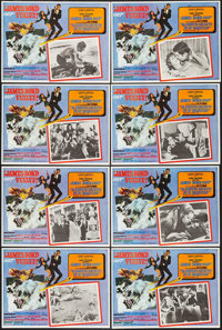 """On Her Majesty's Secret Service (United Artists, 1970). Mexican Lobby Card Set of 8 (12.25"""" X 16.75""""). James B..."""