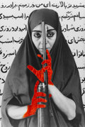 Post-War & Contemporary:Contemporary, Shirin Neshat (b. 1957). Seeking Martyrdom, 1995. Gelatinsilver print with hand coloring and black ink. 46 x 31-1/2 inc...