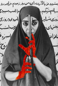 Shirin Neshat (b. 1957) Seeking Martyrdom, 1995 Gelatin silver print with hand coloring and black in