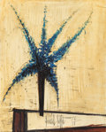 Paintings, Bernard Buffet (1928-1999). Delphinium bleus, 1965. Oil on canvas. 39-3/8 x 31-7/8 inches (100.1 x 81 cm). Signed and da...