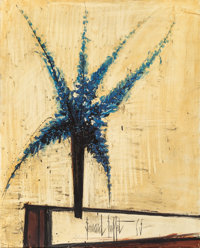 Bernard Buffet (1928-1999) Delphinium Bleus, 1965 Oil on canvas 39-3/8 x 31-7/8 inches (100.1 x 8