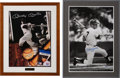 Baseball Collectibles:Others, 1990's Mickey Mantle Signed Photograph & Poster Lot of 2....
