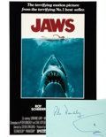 Autographs:Authors, [Jaws] Peter Benchley Autograph with Shark Sketch. ...