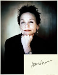 Autographs:Artists, Laurie Anderson Autograph. ...