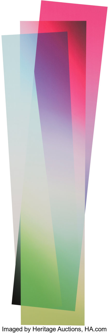 Artie Vierkant (b. 1986) Image Object Friday 30 March 2012 7:10PM, 2012 UV print on Sintra board 55 x 16 inches (139....