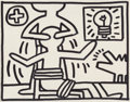 Paintings, Keith Haring (1958-1990). Untitled, 1981. Acrylic on canvasboard. 11 x 14 inches (27.9 x 35.6 cm). Signed twice, inscrib...