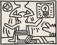 Keith Haring (1958-1990) Untitled, 1981 Acrylic on canvasboard 11 x 14 inches (27.9 x 35.6 cm)