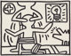Keith Haring (1958-1990) Untitled, 1981 Acrylic on canvasboard 11 x 14 inches (27.9 x 35.6 cm) Signed twice, inscrib
