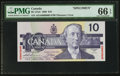 Canadian Currency: , BC-57aS $10 1989 Specimen. ...