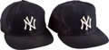 Baseball Collectibles:Hats, 1990's Tony Cloninger Game Worn New York Yankees Cap Lot of 2 fromThe Bobby Murcer Collection. ...
