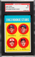 Autographs:Sports Cards, Signed 1963 Topps Pete Rose Rookie #537 SGC Authentic. ...