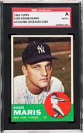 Autographs:Sports Cards, Signed 1963 Topps Roger Maris #120 SGC Authentic. ...