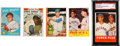 Autographs:Sports Cards, Signed 1959 - 1963 Topps Baseball Hall of Famers Collection (5)....