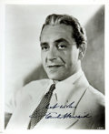 Autographs:Celebrities, [Casablanca] Paul Henreid Autographed Photo. ...