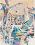 Fine Art - Painting, American:Modern  (1900 1949)  , Rex Brandt (American, 1914-2000). San Diego Yacht Club.Watercolor on paper laid on board. 17-1/2 x 13-1/2 inches (44.5 ...(Total: 2 Items)