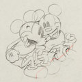 Animation Art:Production Drawing, Puppy Love Mickey and Minnie Mouse Animation Drawing (WaltDisney, 1933)....