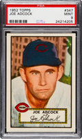 Baseball Cards:Singles (1950-1959), 1952 Topps Joe Adcock #347 PSA Mint 9 - None Higher. ...