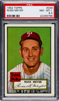 Baseball Cards:Singles (1950-1959), 1952 Topps Russ Meyer #339 PSA NM-MT+ 8.5....