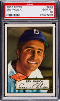 Baseball Cards:Singles (1950-1959), 1952 Topps Erv Palica #273 PSA Gem Mint 10 - Pop Two! ...